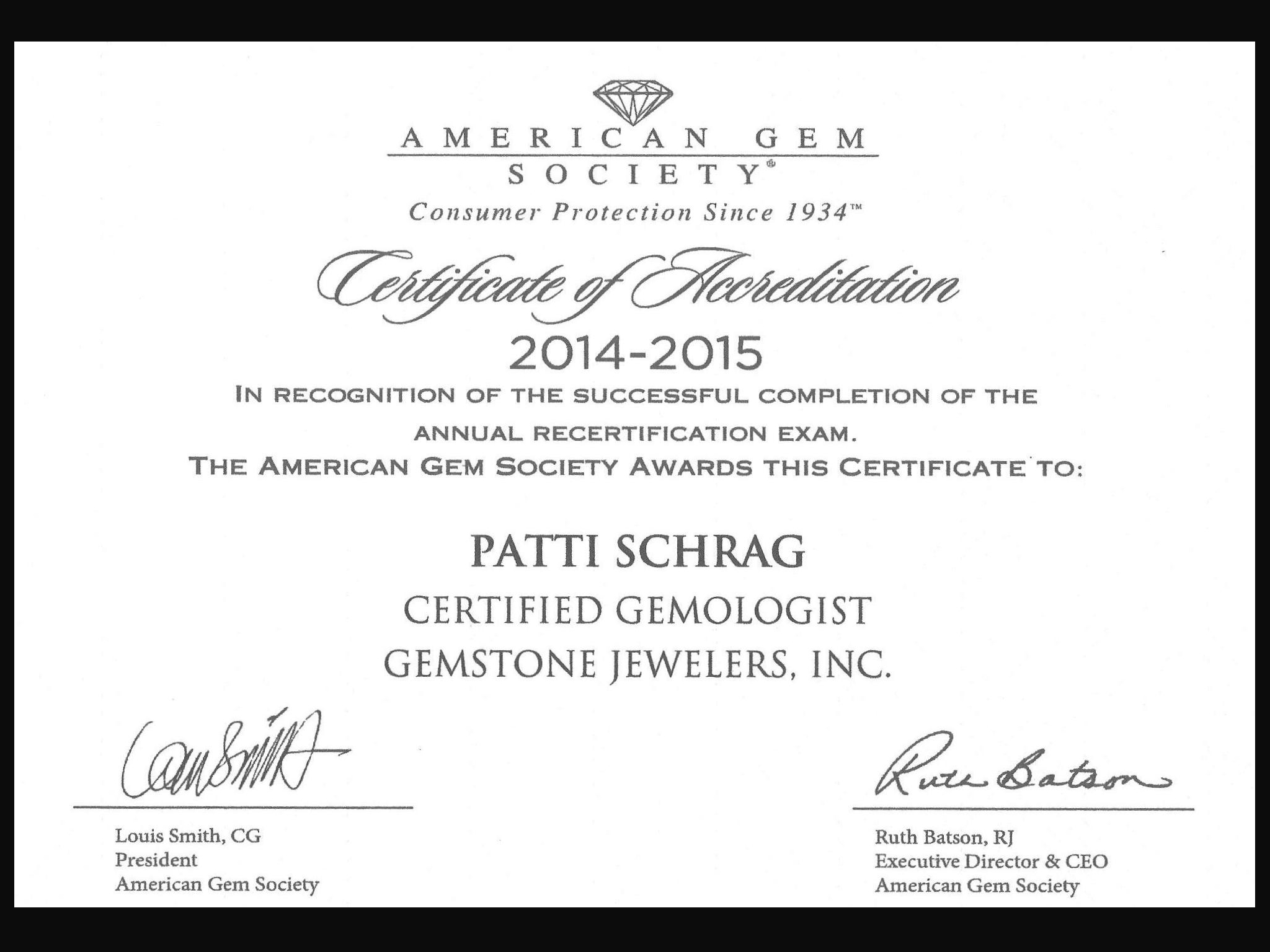 American gem society certification 1betcityfo Image collections